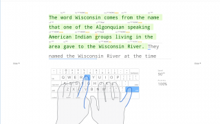 Students can see their typing speed and mistakes as they go.