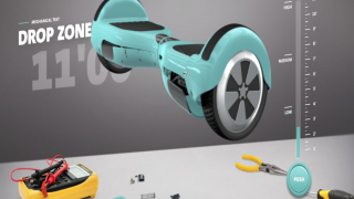 Drop the virtual hoverboard from different heights to see how it impacts the battery.