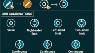 Players use this key to click on orbs identifying parts of one-sided limits.