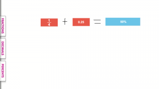 A simple drawing tool allows students or teachers to create equations, or anything else they might want to add, to the field.