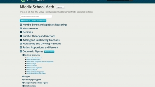 Each subject area has a list of topic videos available.