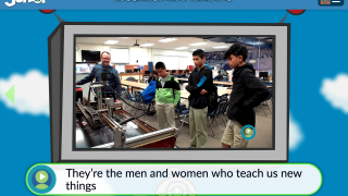 Closed-captioned videos show facets of different occupations.