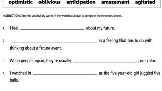 One pencil-and-paper task is fill-in-the-blank sentences.