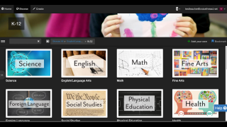 Search the K-12 library by subject area for relevant content to engage students.