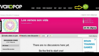 Voxopop is a great tool for language practice.