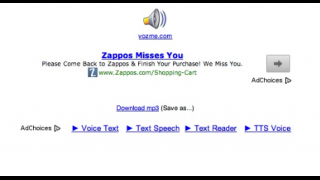 After entering text, users just need to click on a button to create an MP3.