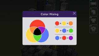 For students who aren't familiar with the color wheel, the game includes a quick reference.