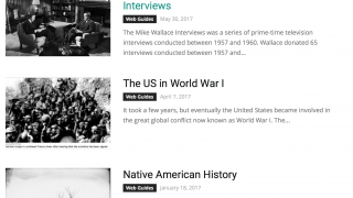 Web Guides offer thematic resource collections.