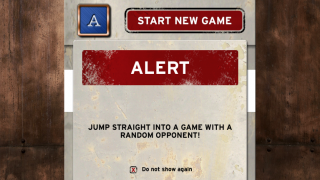Start games with random opponents.