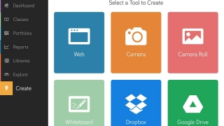 Add files from the camera, DropBox, Google Drive, the Internet, and an in-app whiteboard.