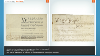 """In the """"We the People"""" activity, kids compare drafts of the Constitution."""