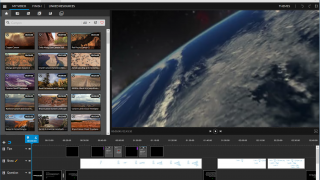 The Timeline editing mode allows for many concurrent tracks and plenty of editing features.