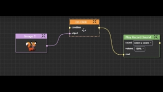Use the flowchart-style Event Graph tool to code interactive elements, animations, music, and more.