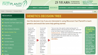 Tools like the Genetics Decision Tree help teachers figure out what materials to order.