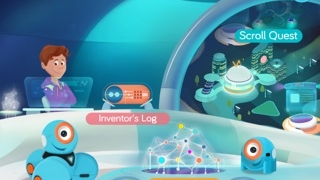 Learn features through Scroll Quest, unlock abilities through the Inventor's Log, and create routines in Free Play.