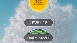 Choose to play the daily puzzle or work your way through the levels.