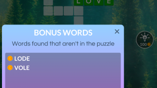 If you make words that aren't in the puzzle, you'll still earn coins.