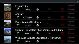View lists of some of the more popular sites.