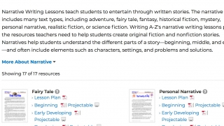 Full lesson plans give teachers lots of guidance and ideas.