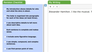 Checklists help students check their own work before they turn it in.