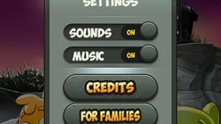 In settings, kids can adjust sound and music, view credits, get more information about the developers, or reset the game.