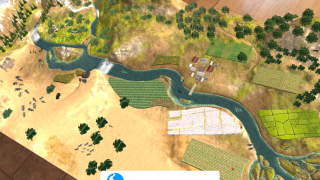 Place a river ecosystem right in front of you.