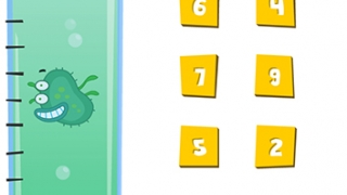 Kids collect cute germs when they finish a counting sequence.