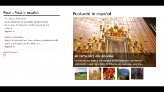 One of the channels features writing in Spanish.