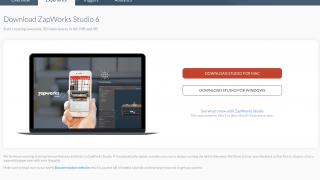 Download Zapworks Studio for the most options, including face tracking and 3D models.