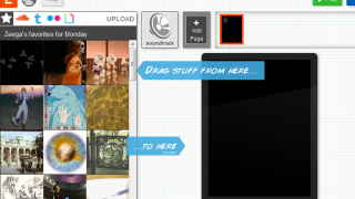 Zeega uses a standard drag-and-drop interface -- it's easy to use.