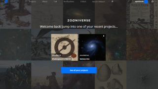 Zooniverse brings together people from all over the world to do research.