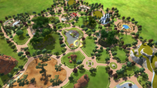 The aerial management view makes it easy to get a handle on a zoo's layout and what needs attention.
