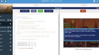 An example of Zulama's embedded coding environment, called DevSpace.