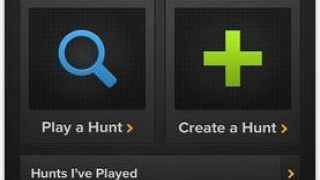 Main page allows you to play an existing hunt, create a new hunt, or review played or created hunts.