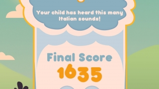 Kids get a final score at the end of each round and grownups can read how many sounds kids heard.