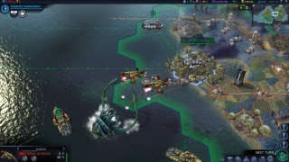 Civilizations expand their influence over land, sea, and air.
