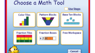 Different options for visualizing math problems are available.