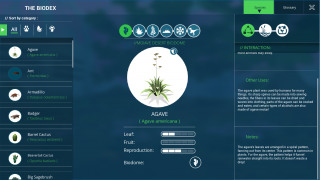 Learn more about plants and animals and their needs in the Biodex.