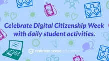 Celebrate Digital Citizenship Week with daily student activities