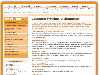 Online writing page