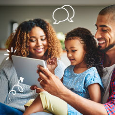 a family talking about family media use