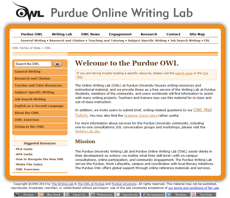 online writing lab writing a research paper
